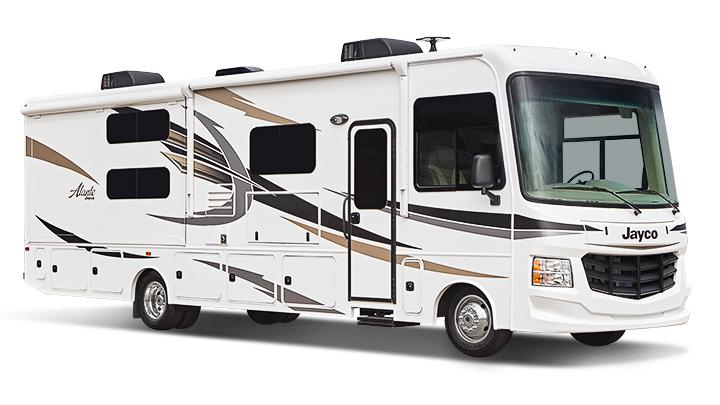 Camping car Jayco Alante 31R vu 3/4 côté passager