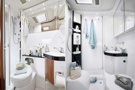 Guide d'achat d'un camping-car : deux salles de bain bien différentes de camping car