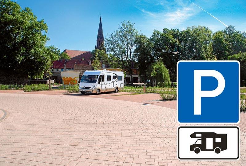 Panneau stationnement autorise pour camping car