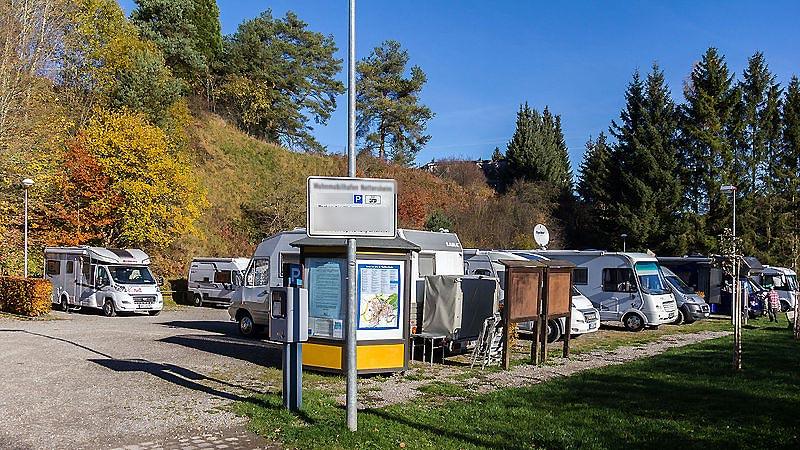 Parking spécial camping car en ville
