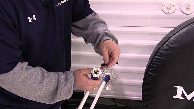 Rincez les reservoirs d eau du camping car