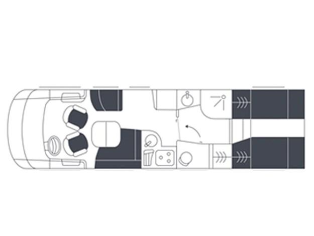 Plan d'une des configurations possibles du Neismann + Bischoff ARTO B5E vu de dessus
