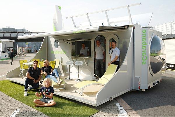 Salon du camping-car : Le concept sCarabane pliable et durable aurait pu être la pièce la plus impressionnante du salon
