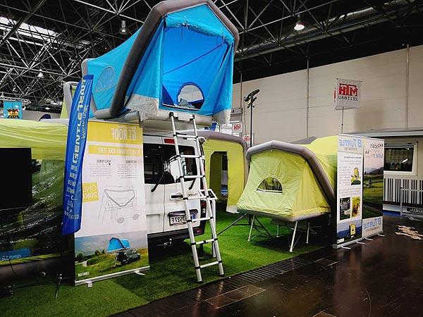 Salon du camping-car : les tentes de toit, ici une tente de toit gonflable GT de Gentletent