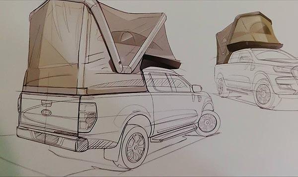 Salon du camping-car : schema de la tente gonflable de gentletent