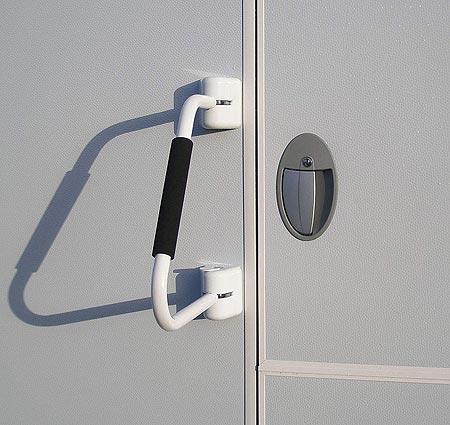 Barre de sécurité porte camping car