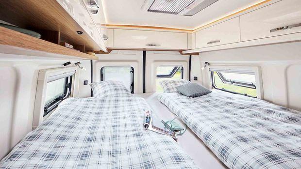 Hobby Vantana De Luxe 65 ET et ses couchages confortables